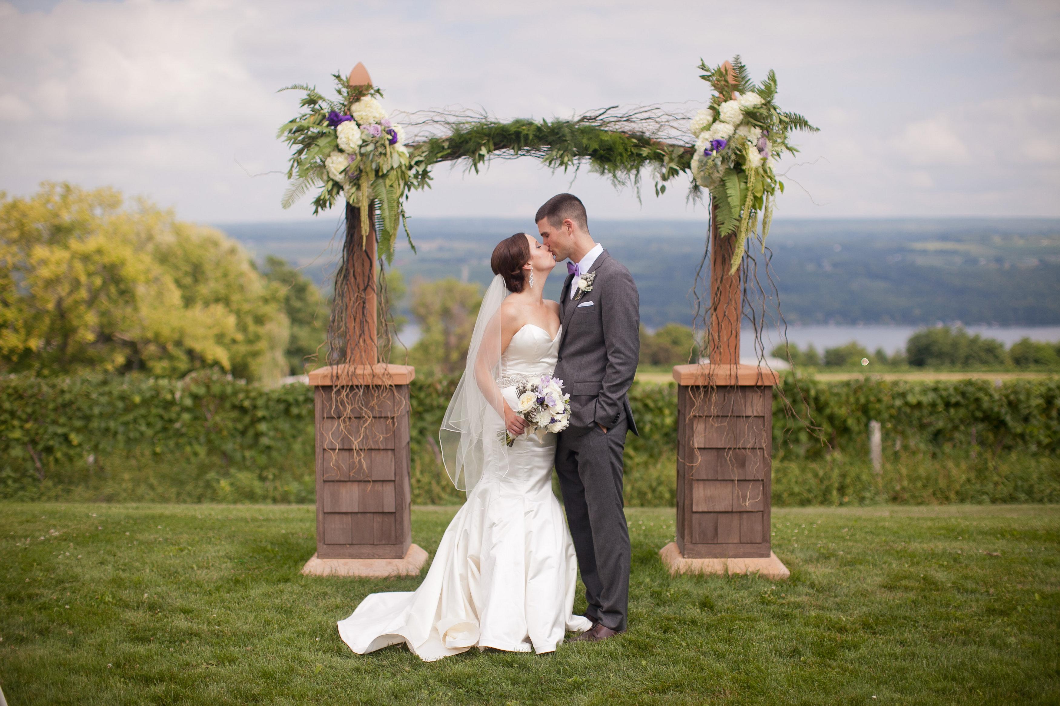 Glenora wine cellars weddings wedding testimonial for Where to go for honeymoon in september