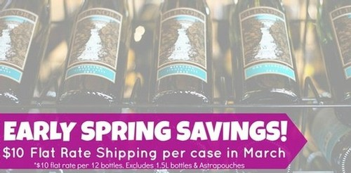 March Shipping Special at Glenora Wine Cellars