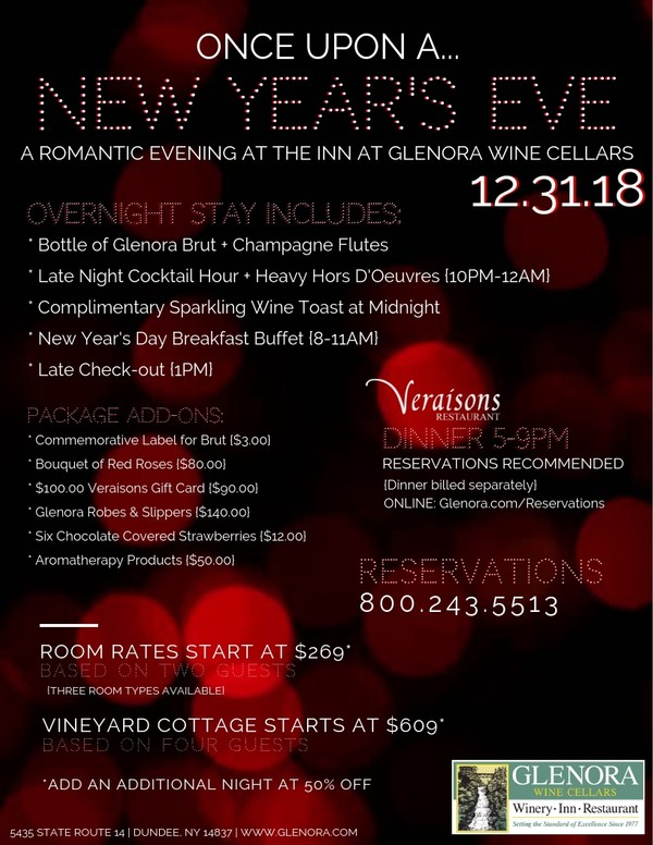 New Year's Eve at the Inn at Glenora Wine Cellars