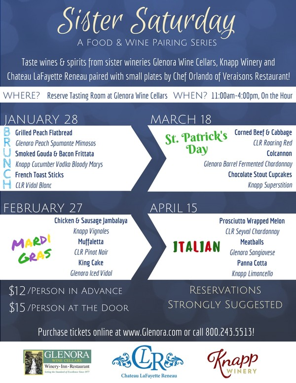 Sister Saturday Series at Glenora Wine Cellars