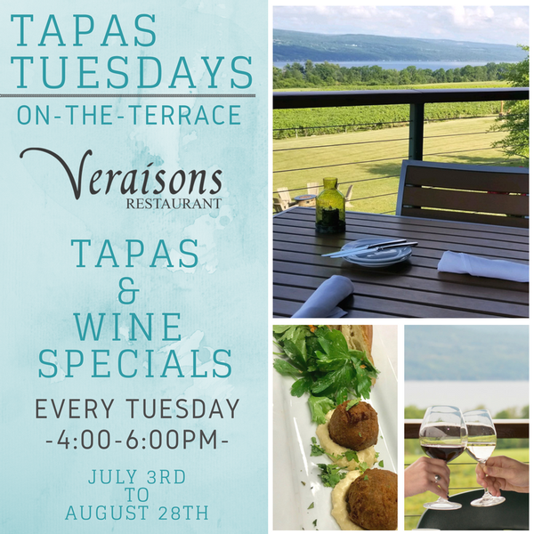 Tapas Tuesdays on the Terrace at Veraisons Restaurant