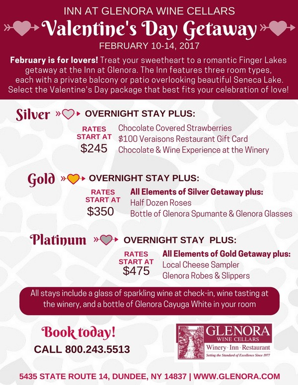 Valentine's Day at the Inn at Glenora Wine Cellars